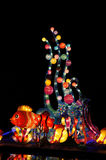 Big red lanterns Stock Images