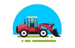 Big red loader in a stock illustration