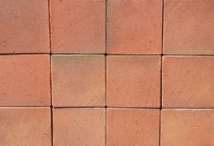 Big Red Luxury German Ceramic Clinker Pavers Stock Image