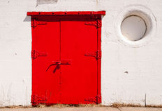 Big Red Metal Door Great Lakes Lighthouse Royalty Free Stock Photography