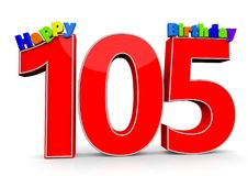 Happy Birthday. Big red number with the letters Happy Birthday Stock Photos