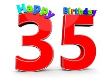 Happy Birthday. Big red number with the letters Happy Birthday Stock Images