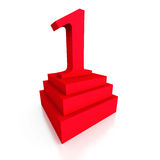 Big Red One 1 Numper On Podium Stock Photography