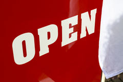 Big red open Royalty Free Stock Image