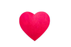 Big red paper heart on white background Stock Image