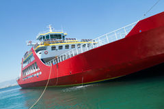 Big red passenger ferry Stock Photography