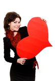 Big red peper heart Stock Image