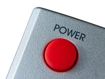 Big red Power button isolated on white Royalty Free Stock Images