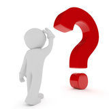 Big red question mark Royalty Free Stock Images