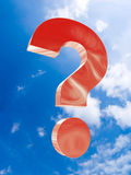 The big red question soars in the sky Stock Images