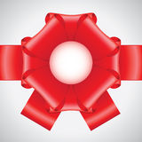 Big red ribbon bow Royalty Free Stock Photo