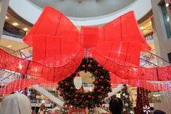 Big red ribbon decoration Royalty Free Stock Photo