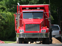 Big red rig Royalty Free Stock Photography