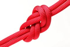Big red rope knot Royalty Free Stock Photography