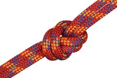 Big red rope knot Stock Photo