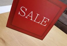 Big Red Sale Sign-Conceptual image for shopping,sales and sea Stock Photo