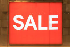 Big Red Sale Sign Stock Photos