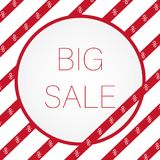 Big red sale sign for e-shop. Royalty Free Stock Image