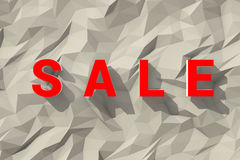 Big red sale words over fair polygonal backgound Stock Photography