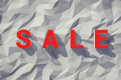 Big red sale words over fair polygonal backgound Stock Image