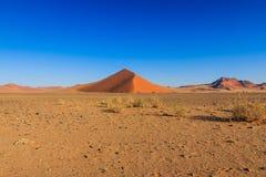 Big red sand dune landscape Sossusvlei Royalty Free Stock Images