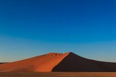 Big red sand dune sunrise magic Sossusvlei Stock Images