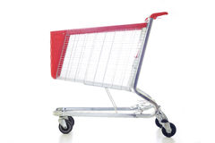 Big red shopping cart Royalty Free Stock Images