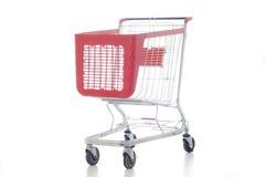 Big red shopping cart stock photos