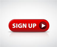 Big red sign up now button Stock Image