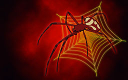 Big red spider Stock Image