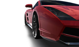 Big red sports car Royalty Free Stock Images