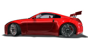 Big red sports car Stock Photography