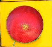 Big Red Stop Light Royalty Free Stock Photo