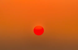 Big red sun Stock Images