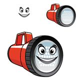 Big red torch or flashlight with a happy smile Stock Images