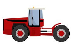Big red tractor Royalty Free Stock Photos
