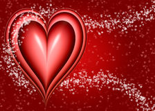 big red Valentines heart Stock Images