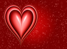 Big red valentines heart  Royalty Free Stock Photos