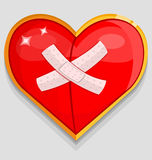 Big red wounded heart Stock Images