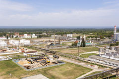 Big refinery complex at summer daylight Royalty Free Stock Images