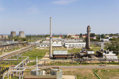 Big refinery complex at summer daylight Stock Photo