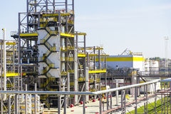 Big refinery complex at summer daylight Royalty Free Stock Photography