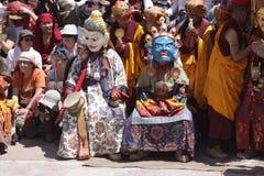 Big religion festival in Hemis. Ladakh. India royalty free stock image
