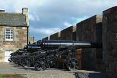Big Renovated Cannon on Edinburgh Castle Royalty Free Stock Photos