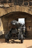 Big Renovated Cannon On Edinburgh Castle Royalty Free Stock Images