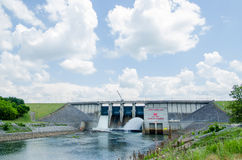 Big reservoir dam Royalty Free Stock Images