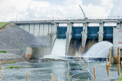 Big reservoir dam Stock Image