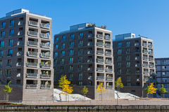 Big residential buildings. Some new and big residential buildings seen in Hamburg, Germany Royalty Free Stock Photography