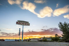 Big Restaurant Motel Sign, USA Stock Photography