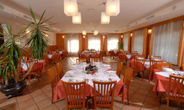 Big restaurant room Stock Photography